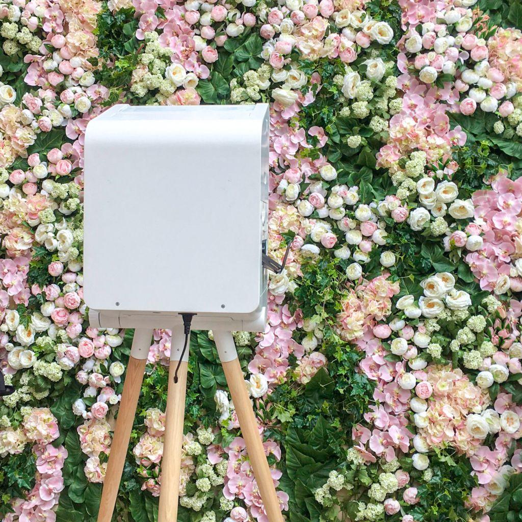 Mur de fleurs pour photobooth
